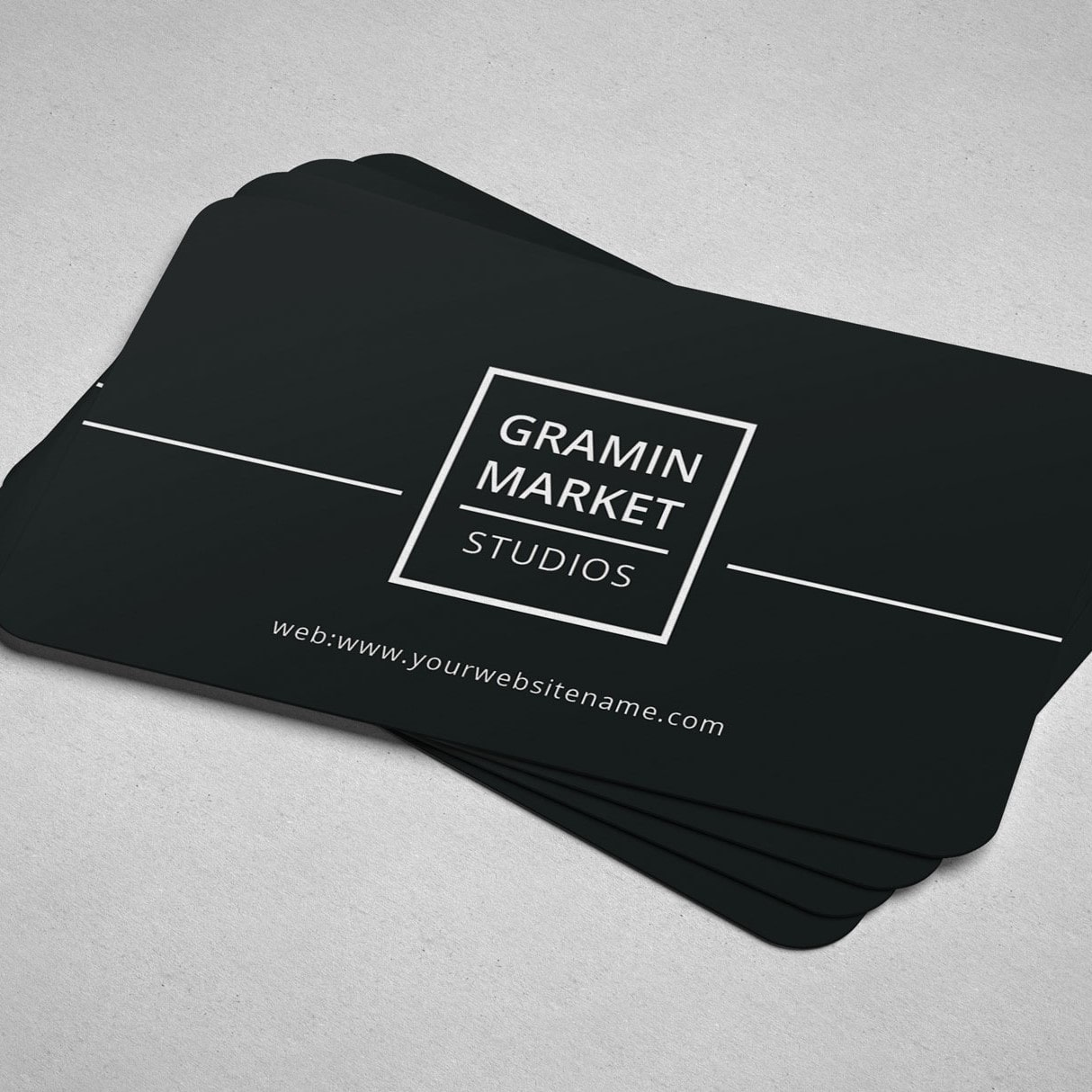 Rounded Die Cut Business Card